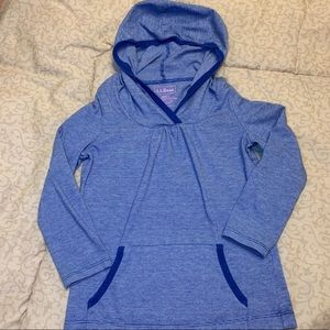 L.L. Bean Lightweight Pullover Hooded Top-Size6X/7
